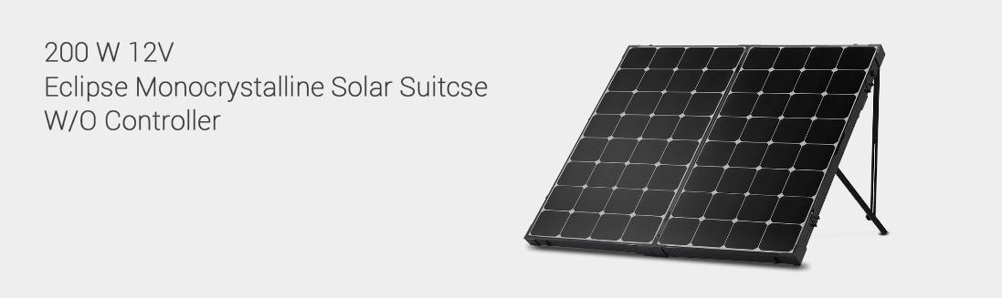 200 WATT ECLIPSE MONOCRYSTALLINE SOLAR SUITCASE W/O CONTROLLER